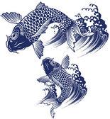 日本の鯉 — ストックベクタ