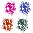 Stock Vector: Splatter and skull