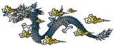 Japanesque dragon — Stock Vector