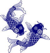 Japanese carp, — Stock Vector