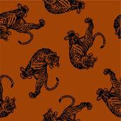 Japanese tiger seamlessly — ストックベクタ