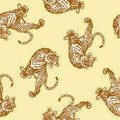 Japanese tiger seamlessly — Stockvektor