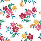 Hibiscus seamlessly — Stock Vector