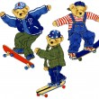 SKATEBOARD BEAR — Stock Photo