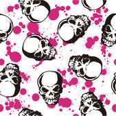 Splatter and skull pattern — Stock Vector