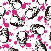 Splatter and skull pattern — Stock Vector