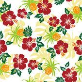Pattern of Hibiscus — Stock Vector