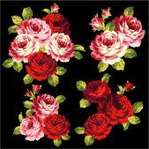 Kytice růže — Stock vektor