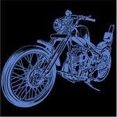 Big motorcycle — Stock Vector