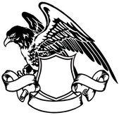 Emblem of eagle — Stock Vector