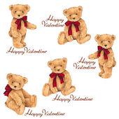 Valentine of the bear — Stock Photo