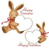 Valentine of rabbit — Stock Photo