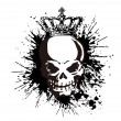 The skull and paint, — Stock Vector