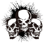 Skull and paint, — Stock Vector