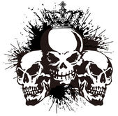 The skull and paint, — Vettoriale Stock