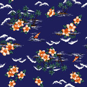 Hawaiian print, — Foto de Stock
