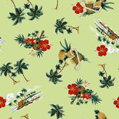 Hawaiian print, — Stock Photo
