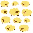 Material of pretty sheep, — Stock Vector #40583325