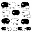Pattern of sheep loving, — Stock Vector #40583359