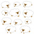 Material of pretty sheep, — Stock Vector #40583361