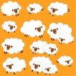 Stock Vector: Material of pretty sheep,