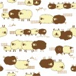 Pattern of sheep loving, — Stock Vector #40583745