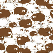 The pattern of a sheep loving, — Stock Vector