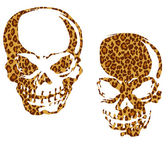 Skull and animal print — Stok Vektör