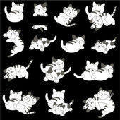 Pretty cat — Stock Vector