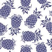 Patroon van ananas, — Stockvector