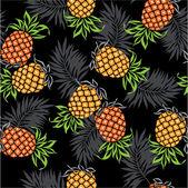 Pattern of pineapple, — Stock Vector