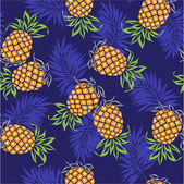 Pattern of pineapple, — Stock Vector