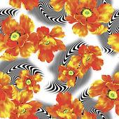 花のイラスト — ストック写真