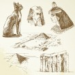Egypt - hand drawn set - Stockvectorbeeld