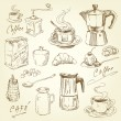 Stock Vector: Coffee collection