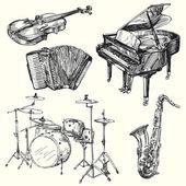 Musical instruments — Stockvector