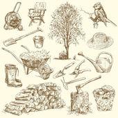 Gardening tools — Stock Vector