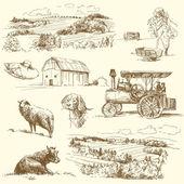 çiftlik koleksiyonu — Stok Vektör