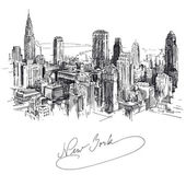 New york - hand drawn metropolis — Stock Vector