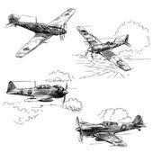 2. dünya savaşı uçakları — Stok Vektör