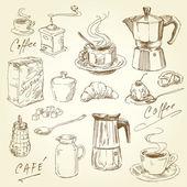 Kahve toplama — Stok Vektör