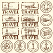 Travel stamp, mark — Vector de stock