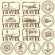 Travel stamp, mark — Image vectorielle