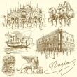 Venice - Italy - Stock Vector