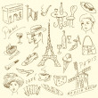 Paris doodles — Stock Vector