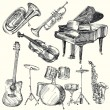 musical instruments — Image vectorielle