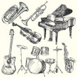 Musical instruments - Vettoriali Stock