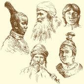 Human diversity, human races — Stock Vector