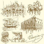 Venecia - italia — Vector de stock