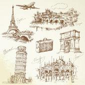 Avrupa'da seyahat — Stok Vektör